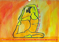 Farbige Yoga Kraftwelt - Yoga Asanas für die Chakren (Wandkalender 2019 DIN A3 quer) - Produktdetailbild 3