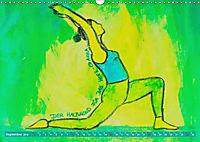 Farbige Yoga Kraftwelt - Yoga Asanas für die Chakren (Wandkalender 2019 DIN A3 quer) - Produktdetailbild 9
