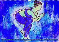 Farbige Yoga Kraftwelt - Yoga Asanas für die Chakren (Wandkalender 2019 DIN A3 quer) - Produktdetailbild 6