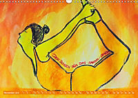 Farbige Yoga Kraftwelt - Yoga Asanas für die Chakren (Wandkalender 2019 DIN A3 quer) - Produktdetailbild 11
