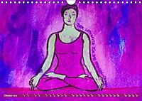Farbige Yoga Kraftwelt - Yoga Asanas für die Chakren (Wandkalender 2019 DIN A4 quer) - Produktdetailbild 10