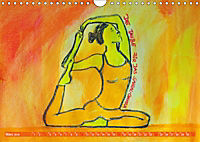 Farbige Yoga Kraftwelt - Yoga Asanas für die Chakren (Wandkalender 2019 DIN A4 quer) - Produktdetailbild 3