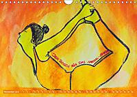 Farbige Yoga Kraftwelt - Yoga Asanas für die Chakren (Wandkalender 2019 DIN A4 quer) - Produktdetailbild 11