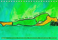 Farbige Yoga Kraftwelt - Yoga Asanas für die Chakren (Tischkalender 2019 DIN A5 quer) - Produktdetailbild 1