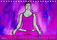 Farbige Yoga Kraftwelt - Yoga Asanas für die Chakren (Tischkalender 2019 DIN A5 quer) - Produktdetailbild 10