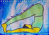 Farbige Yoga Kraftwelt - Yoga Asanas für die Chakren (Tischkalender 2019 DIN A5 quer) - Produktdetailbild 2