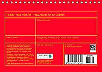 Farbige Yoga Kraftwelt - Yoga Asanas für die Chakren (Tischkalender 2019 DIN A5 quer) - Produktdetailbild 13