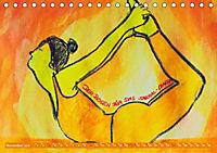 Farbige Yoga Kraftwelt - Yoga Asanas für die Chakren (Tischkalender 2019 DIN A5 quer) - Produktdetailbild 11