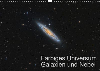 Farbiges Universum Galaxien und Nebel (Wandkalender 2019 DIN A3 quer), Dr. Kai Wiechen, Kai Wiechen