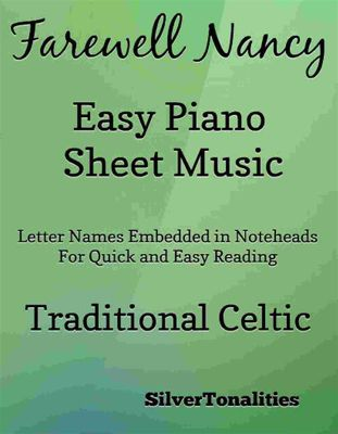 Farewell Nancy Easy Piano Sheet Music, Traditional Celtic, SilverTonalities