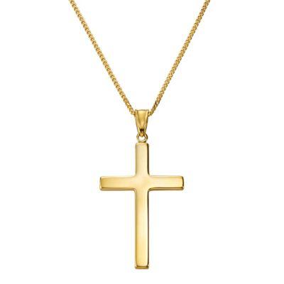 Fascination by Ellen K. Anhänger mit Kette 333/- Gelbgold Kreuz