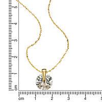 Fascination by Ellen K. Anhänger mit Kette 333/- Gold Zirkonia weiß 42cm Glänzend - Produktdetailbild 1