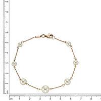 Fascination by Ellen K. Armband 333/- Rotgold Perle weiß - Produktdetailbild 1