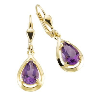 Fascination by Ellen K. Ohrhänger 333/- Gelbgold Amethyst