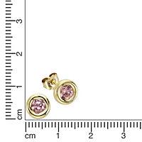 Fascination by Ellen K. Ohrstecker 333/- Gelbgold Zirkonia pink - Produktdetailbild 1
