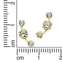 Fascination by Ellen K. Ohrstecker 333/- Gelbgold Bergkristall Zirkonia - Produktdetailbild 1