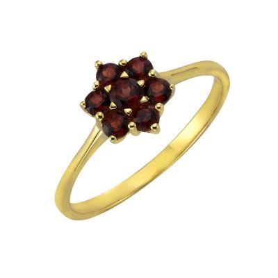 Fascination by Ellen K. Ring 333/- Gelbgold Granat (Größe: 054 (17,2))