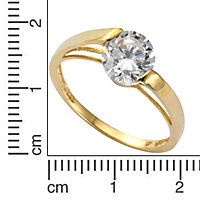 Fascination by Ellen K. Ring 333/- Gelbgold Zirkonia (Größe: 017 (53,5)) - Produktdetailbild 1