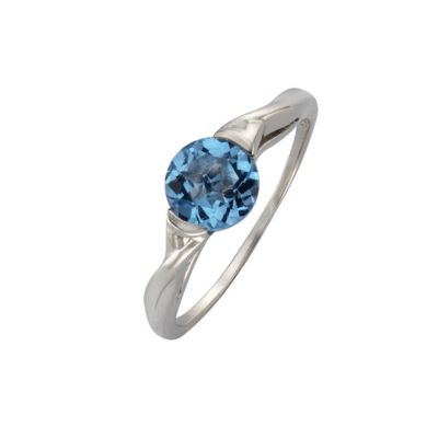 Fascination by Ellen K. Ring 333/- Gold Blautopas beh. hellblau Glänzend (Größe: 054 (17,2))