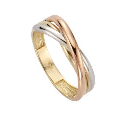 Fascination by Ellen K. Ring 333/- Gold dreifarbig (Größe: 054 (17,2))