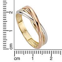 Fascination by Ellen K. Ring 333/- Gold dreifarbig (Größe: 058 (18,5)) - Produktdetailbild 1