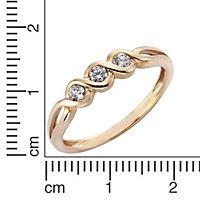Fascination by Ellen K. Ring 333/- Rotgold Zirkonia weiß (Größe: 058 (18,5)) - Produktdetailbild 1