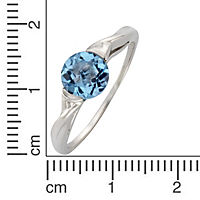 Fascination by Ellen K. Ring 333/- Weißgold Blautopas (Größe: 058 (18,5)) - Produktdetailbild 1