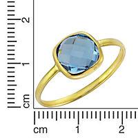 Fascination by Ellen K. Ring 375/- Gelbgold Blautopas (Größe: 058 (18,5)) - Produktdetailbild 1
