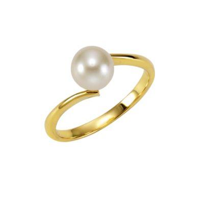 Fascination by Ellen K. Ring 375/- Gelbgold Perle weiß (Größe: 060 (19,1))