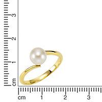 Fascination by Ellen K. Ring 375/- Gelbgold Perle weiß (Größe: 054 (17,2)) - Produktdetailbild 1