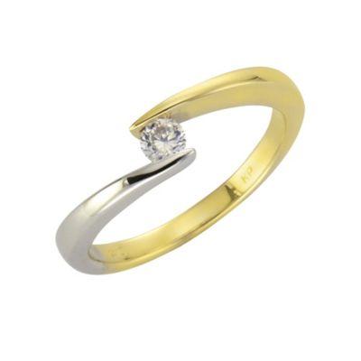 Fascination by Ellen K. Ring 375/- Gold bicolor Zirkonia (Größe: 052 (16,6))