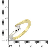 Fascination by Ellen K. Ring 375/- Gold bicolor Zirkonia (Größe: 052 (16,6)) - Produktdetailbild 1