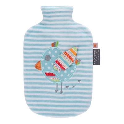 Fashy Little stars Wärmflasche mit Flauschbezug und Stickerei, 0,8 l