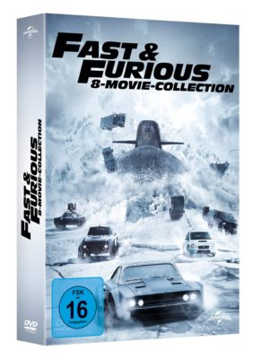 Fast & Furious - 8-Movie-Collection, Ken Li, Gary Scott Thompson, Erik Bergquist, David Ayer, Michael Brandt, Derek Haas, Chris Morgan