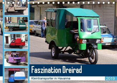 Faszination Dreirad - Kleintransporter in Havanna (Tischkalender 2019 DIN A5 quer), Henning von Löwis of Menar