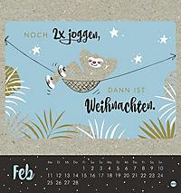 Faultier Postkartenkalender - Kalender 2019 - Produktdetailbild 2