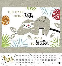Faultier Postkartenkalender - Kalender 2019 - Produktdetailbild 3