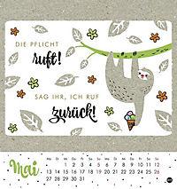 Faultier Postkartenkalender - Kalender 2019 - Produktdetailbild 5