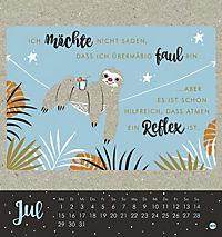 Faultier Postkartenkalender - Kalender 2019 - Produktdetailbild 7