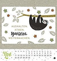 Faultier Postkartenkalender - Kalender 2019 - Produktdetailbild 11