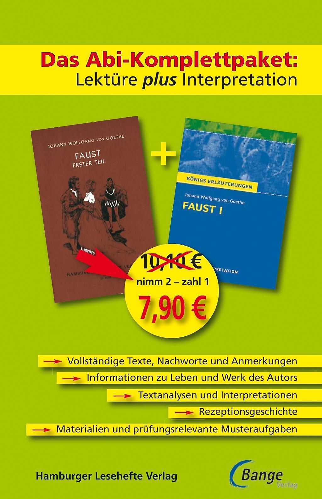 Faust I Lektüre Plus Interpretation Buch Bestellen Weltbildde