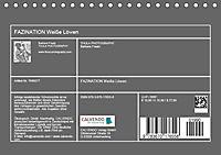 FAZINATION Weisse Löwen (Tischkalender 2019 DIN A5 quer) - Produktdetailbild 13