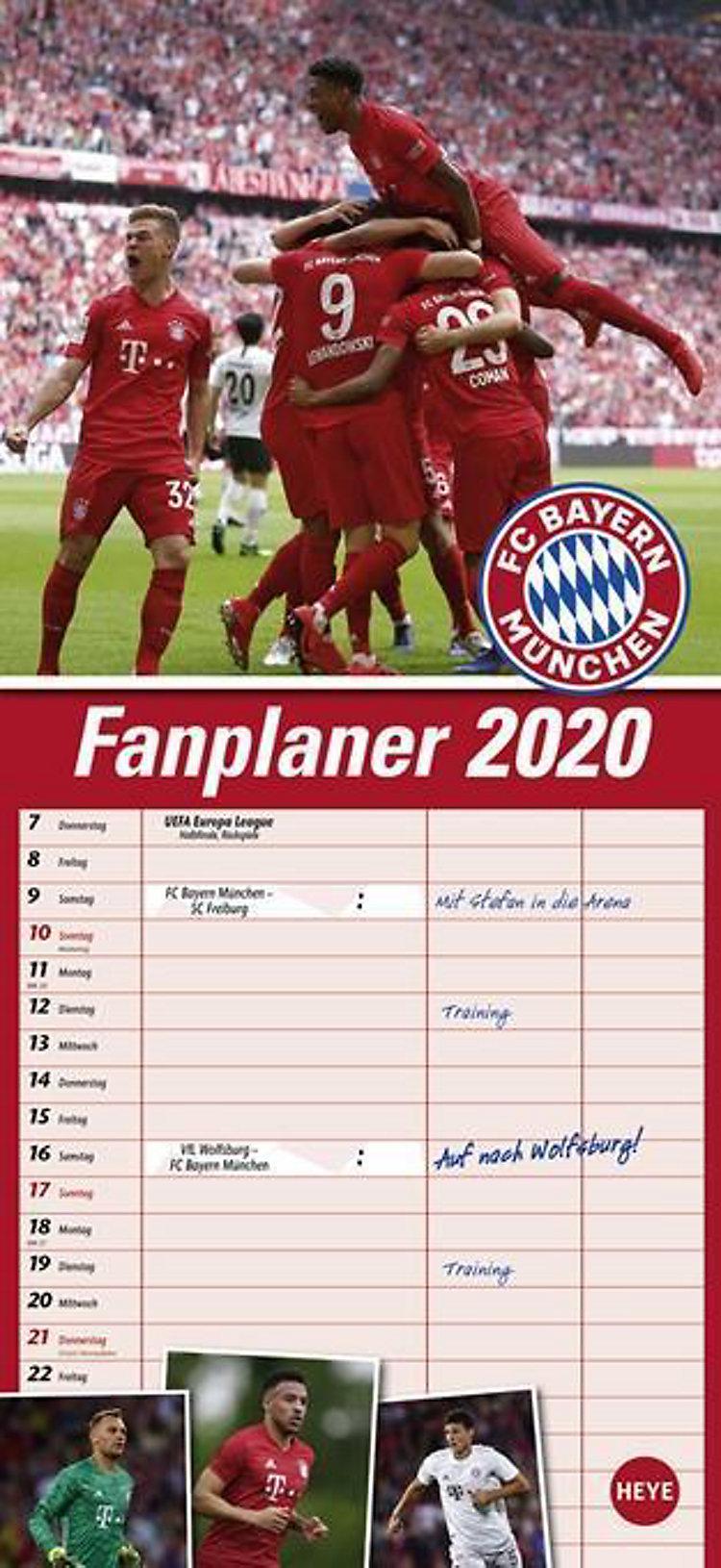 Fc Bayern München Fanplaner 2020 Kalender Bei Weltbildde