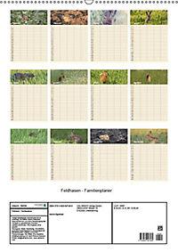 Feldhasen - Familienplaner (Wandkalender 2019 DIN A2 hoch) - Produktdetailbild 3