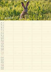 Feldhasen - Familienplaner (Wandkalender 2019 DIN A2 hoch) - Produktdetailbild 4