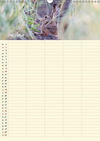 Feldhasen - Familienplaner (Wandkalender 2019 DIN A3 hoch) - Produktdetailbild 3