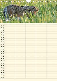 Feldhasen - Familienplaner (Wandkalender 2019 DIN A4 hoch) - Produktdetailbild 1