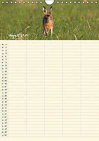 Feldhasen - Familienplaner (Wandkalender 2019 DIN A4 hoch) - Produktdetailbild 10