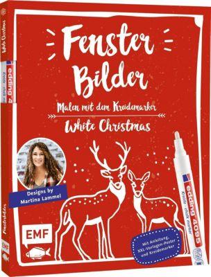 Fensterbilder malen mit dem Kreidemarker - White Christmas - Martina Lammel |