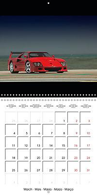 Ferrari F40 LM (Wall Calendar 2019 300 × 300 mm Square) - Produktdetailbild 3